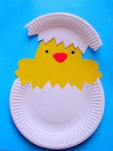 idee pentru copii de Paste Pasti - pui din carton