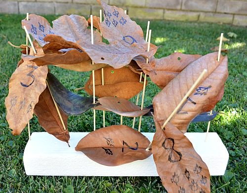 leaves-sculptures-math-activities-for-kids